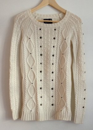 American Eagle Outfitters Cable Sweater cream