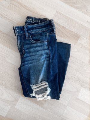 American Eagle Outfitters Skinny jeans wit-blauw