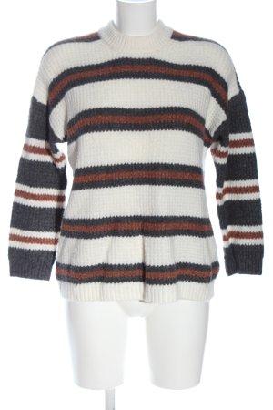 American Eagle Outfitters Kraagloze sweater gestreept patroon elegant