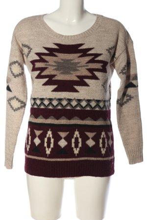 American Eagle Outfitters Sweter z okrągłym dekoltem Na całej powierzchni