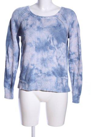 American Eagle Outfitters Pull ras du cou bleu-gris clair style décontracté