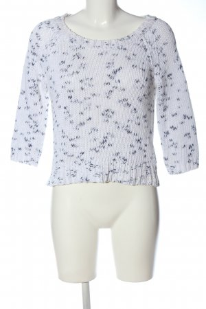 American Eagle Outfitters Crewneck Sweater white-blue cable stitch casual look