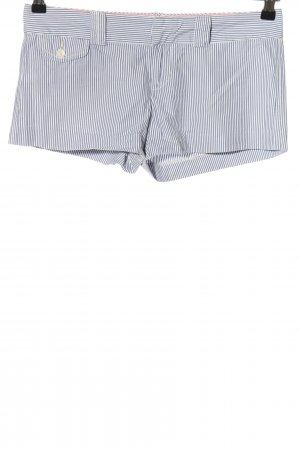 American Eagle Outfitters Shorts blau-weiß Streifenmuster Casual-Look