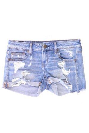American Eagle Outfitters Shorts Größe US 4 blau aus Baumwolle