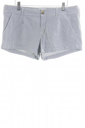 American Eagle Outfitters Shorts weiß-dunkelblau Streifenmuster Casual-Look