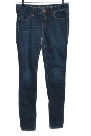 American Eagle Outfitters Skinny Jeans blau Street-Fashion-Look
