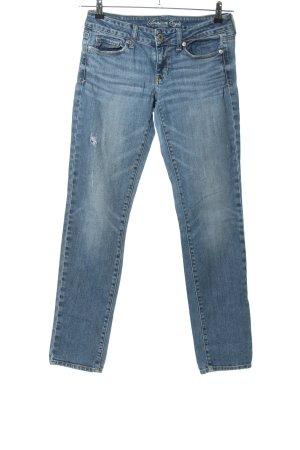 American Eagle Outfitters Dopasowane jeansy niebieski W stylu casual