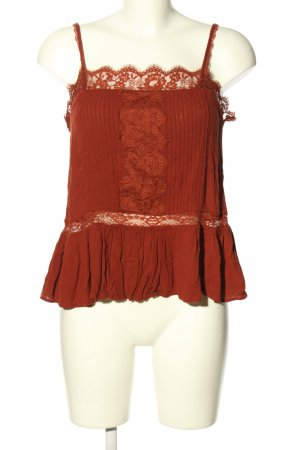 American Eagle Outfitters Spaghettiträger Top rot Casual-Look