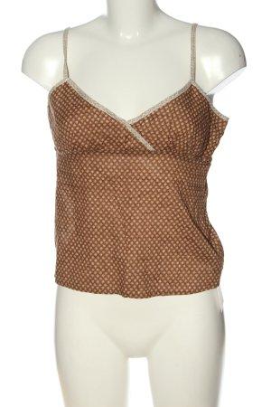 American Eagle Outfitters Top con bretelline marrone-crema motivo astratto