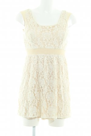 American Eagle Outfitters Spitzenkleid creme
