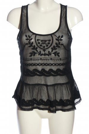 American Eagle Outfitters Lace Top black elegant