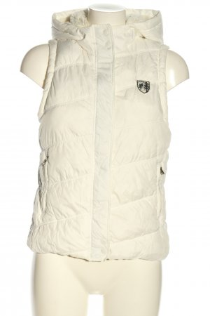 American Eagle Outfitters Quilted Gilet cream quilting pattern casual look