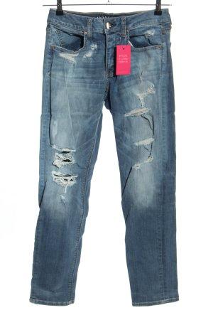 American Eagle Outfitters Jeansy ze stretchu niebieski W stylu casual
