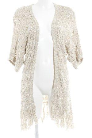 American Eagle Outfitters Strickjacke beige-creme Farbverlauf Casual-Look