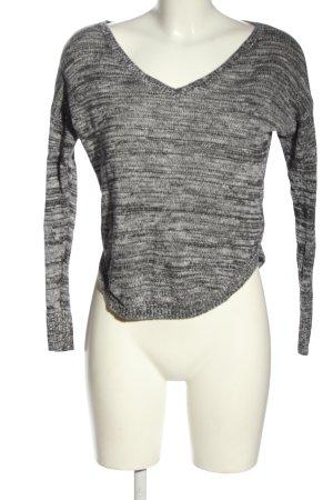 American Eagle Outfitters Pull tricoté gris clair moucheté style décontracté