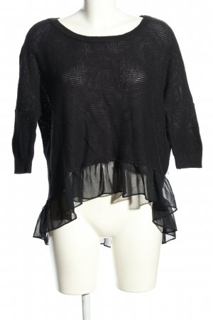 American Eagle Outfitters Knitted Sweater black casual look