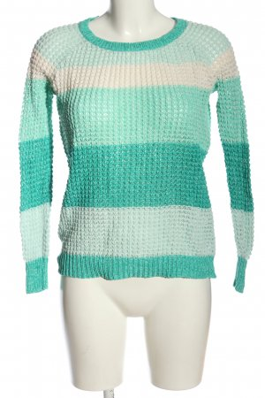 American Eagle Outfitters Knitted Sweater turquoise-white allover print