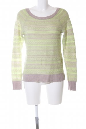 American Eagle Outfitters Strickpullover grün-wollweiß grafisches Muster