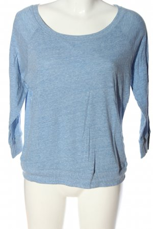 American Eagle Outfitters Knitted Jumper blue flecked casual look