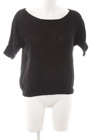 American Eagle Outfitters Strickshirt schwarz Casual-Look