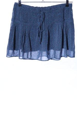 American Eagle Outfitters Gelaagde rok blauw gestippeld patroon