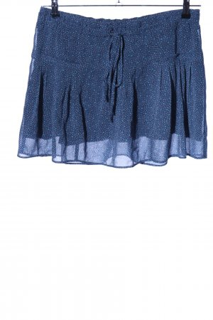American Eagle Outfitters Broomstick Skirt blue spot pattern casual look