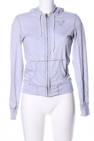 American Eagle Outfitters Sweatjack lichtgrijs gestippeld casual uitstraling