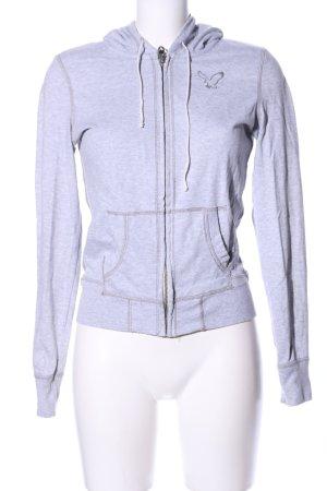 American Eagle Outfitters Veste sweat gris clair moucheté style décontracté