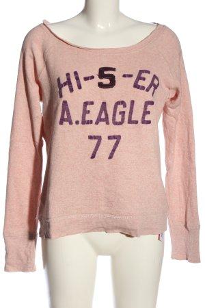 American Eagle Outfitters Sweatshirt rose-violet moucheté style décontracté
