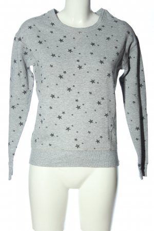 American Eagle Outfitters Suéter gris claro moteado look casual