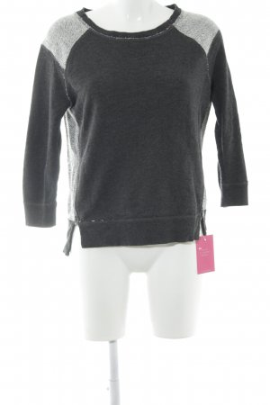 American Eagle Outfitters Sweat Shirt dark grey-white mixture fibre