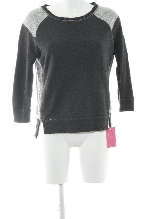 American Eagle Outfitters Sweatshirt gris foncé-blanc tissu mixte