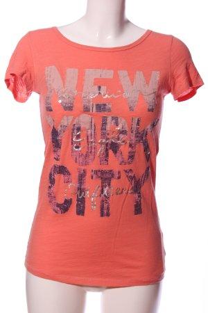 American Eagle Outfitters T-shirt różowy Nadruk z motywem W stylu casual