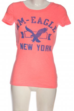 American Eagle Outfitters T-shirt rosa-blu Stampa a tema stile atletico
