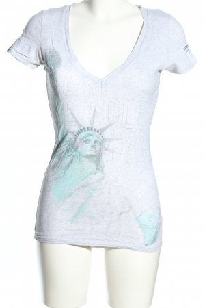 American Eagle Outfitters T-Shirt hellgrau Motivdruck Casual-Look