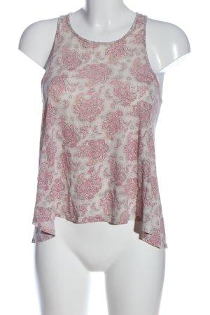 American Eagle Outfitters Camiseta sin mangas blanco-rosa estampado temático