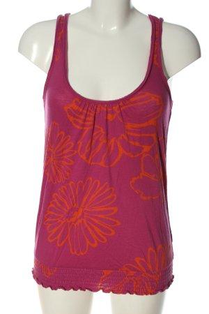 American Eagle Outfitters Canotta rosa-arancione chiaro stampa integrale