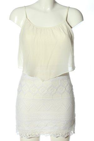 American Eagle Outfitters Vestido tipo overol blanco puro-blanco elegante