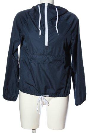 American Eagle Outfitters Kurtka przejściowa niebieski-biały W stylu casual