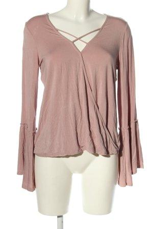 American Eagle Outfitters Koszulka z dekoltem w kształcie litery V różowy