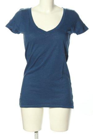 American Eagle Outfitters V-Ausschnitt-Shirt blau Casual-Look