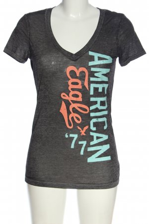 American Eagle Outfitters V-Neck Shirt printed lettering casual look