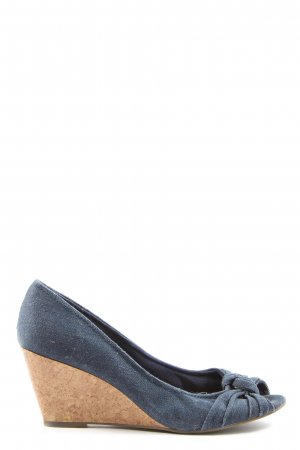 american eagle Peep Toe Pumps blauw casual uitstraling