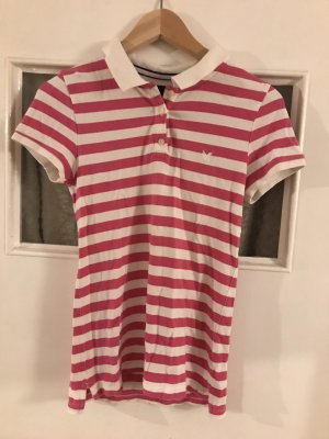 American Eagle Outfitters Polo shirt wit-roze