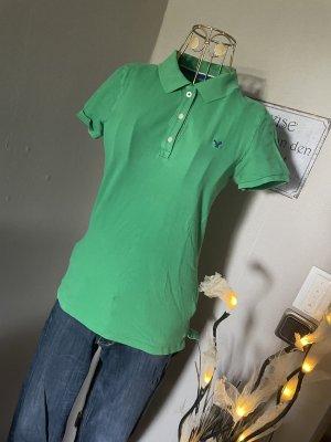 american eagle Polo Shirt green-blue