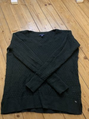 american eagle Coarse Knitted Sweater black