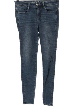 american eagle Jeans cigarette bleu style décontracté