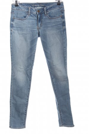 american eagle Tube jeans blauw casual uitstraling