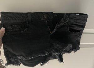 american eagle Pantaloncino di jeans nero