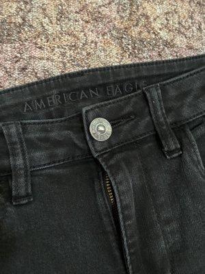american eagle High Waist Trousers black